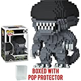 xenomorph head - Funko 8-Bit Pop! Horror: Alien - Xenomorph Vinyl Figure (Bundled with Pop BOX PROTECTOR CASE)