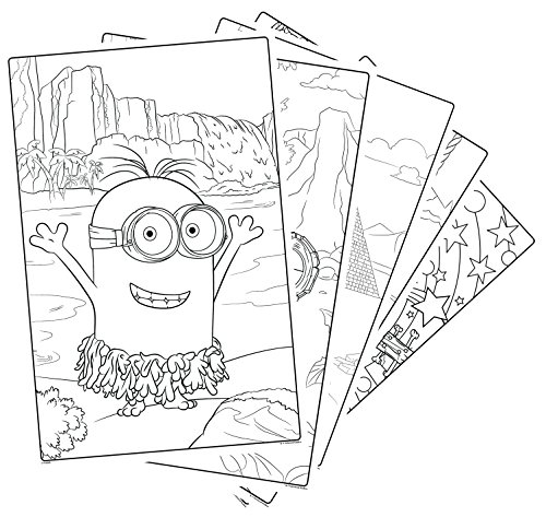 amazoncom crayola giant color pages minions toys games - Color Alive Coloring Pages Minions