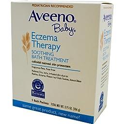 Aveeno Soothing Baby Bath Treatment, Single Use Packets - 5 ea