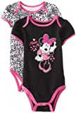 "Disney Baby Girls' Minnie ""Minnie and Me"" 2 Pack Creeper, Pink and Zebra Print, 12 Months"