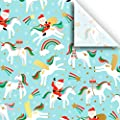 Merry Unicorn Print Tissue 48 Sheets 15 Inch X 20 Inch For Gift Bag Gift Wrap Party Decoration Special Occasion Colors Of Rainbow