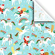 Merry Unicorn - Print Tissue - 48 Sheets - 15 Inch x 20 Inch - for Gift Bag, Gift Wrap, Party Decoration, Special Occasion | Colors of Rainbow