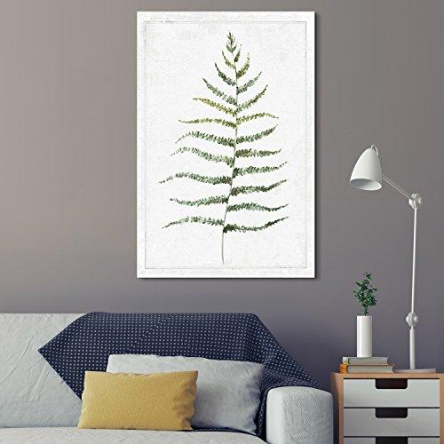 Hand Drawn Green Slim Tree Leaf Series 2 Artwork