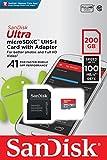 SanDisk Ultra 200GB microSDXC UHS-I card with Adapter -100MB/s U1 A1 - SDSQUAR-200G-GN6MA