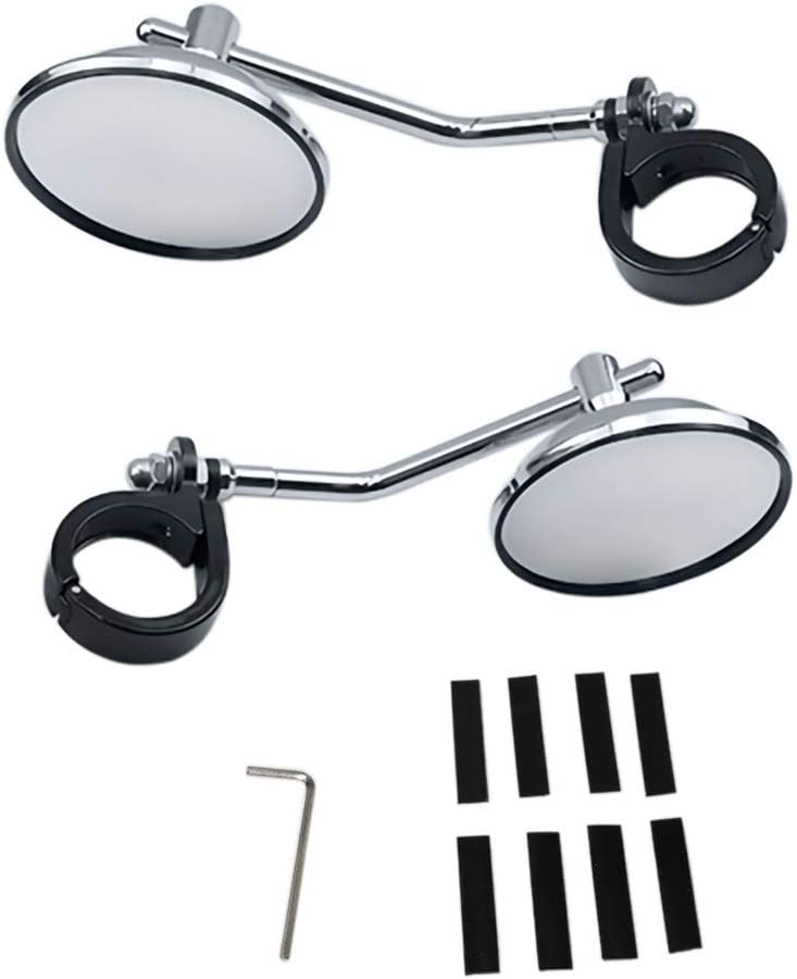 Argento GUAIMI Specchietti Moto 39-41 mm forcella Supporto Retrovisori Specchietto per Harley Davidson Sportster XL 883 1200 XL48 72 H-onda Rebel Ya-maha Bolt Custom Cruisers
