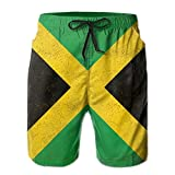 Men's Jamaica Flag Proud Jamaicans Tropical Quick Dry Board Shorts Swimming Volley Beach Trunks