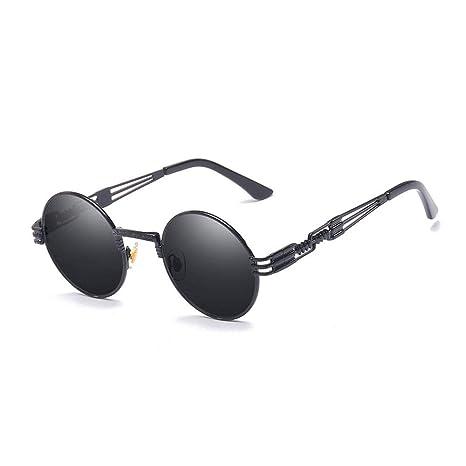 YSZDM Gafas de Sol de Mujer, Gafas de Sol de Metal Steampunk ...