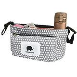 Stroller Organizer Baby Diaper Stroller Bag Mommy Nappy Bag Pram Bag Parent Organizer Storage Durable Universal Stroller Bag Perfect Baby Shower Gift Yxaomite (White)