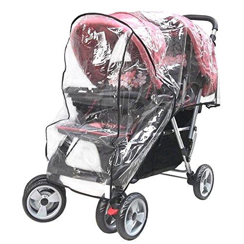Aligle Weather Shield Double Popular for Swivel Wheel Stroller Universal Size Baby Rain Cover/Wind Shield Deal (Black) by Aligle (Image #4)