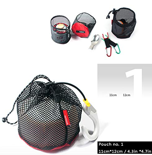 29e47e5d1554 Drawstring Bags Pouch/Ditty Bag/Mesh Stuff Sack Camping Cord Bag Storage  5-in-1 Travel Use Nylon 5 Pieces
