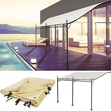 probache auvent pergola adoss pour terrasse gm 3 x 4 m avec toile crue