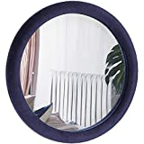 Beautify 23 Inch Round Mirror with Decorative Velvet Frame for Entryways, Washrooms, Living Rooms and More - Hanging Wall Mounted Mirror