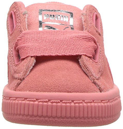PUMA Unisex-Kids Suede Heart Snk,Shell Pink/Shell Pink,11 M US Little Kid