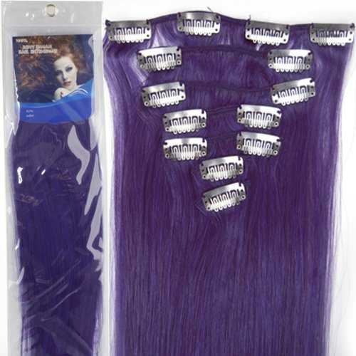 20''7pcs Fashional Clips in Remy Human Hair Extensions 24 Colors for Women Beauty Hot Sale ()