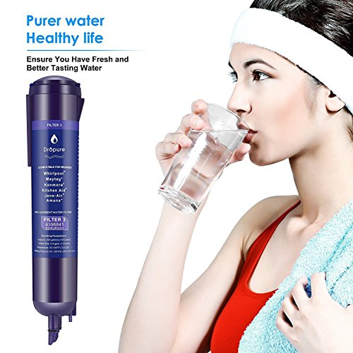 4396841 Refrigerator Water Filter 3 for 4396710, 4396841, EDR3RX1 Filter 3, Pur Water, Kenmore 9030 Water Filter - 1PCS by Dropure (Image #5)