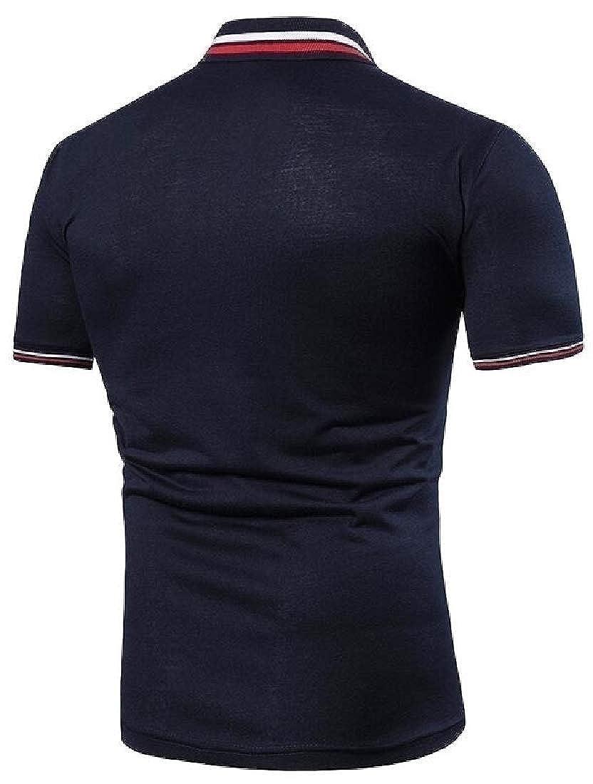 Miracle Men Business Short Sleeve Polo Shirt Cotton Regular Fit T-Shirts