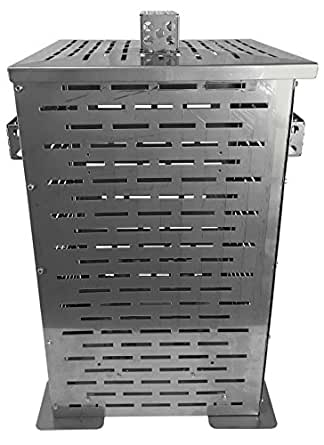 """Professional Grade Products 9800803 High Grade Stainless Steel Burn Barrel Incinerator Cage, 32"""" Height x 22"""" Length x 22"""" Width"""