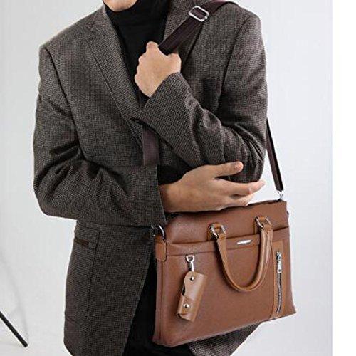 Gentleman Temperamentales Salvajes Simple Y Elegante Bolso De Hombro Mochilas Para Portátiles Bolsa Multicolor Cuadrado Brown