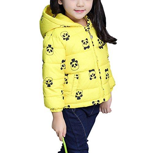 YISUMEI Big Girls Cotton Coat Jacket Yellow 7