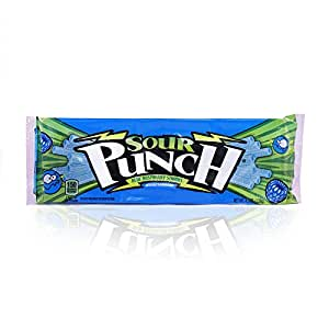 Sour Punch Blue Raspberry Sour Straws 4.5oz Tray (24 Pack)