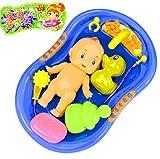 tub baby doll - YOYOSTORE 1 set Child Pretend Role Play Baby Doll Bathing Shower Bath Tub Bathroom Accessories Xmas gift Toy