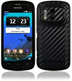 Skinomi® TechSkin - Nokia 808 PureView Screen Protector + Carbon Fiber Full Body Skin / Front & Back Premium HD Clear Film / Ultra Invisible and Anti Bubble Shield with Free Lifetime Replacement