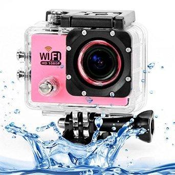 Puluz SJ6000 12MP Full HD 1080P 2.0 Inch LCD Screen WiFi Sport DV Camera (Pink)