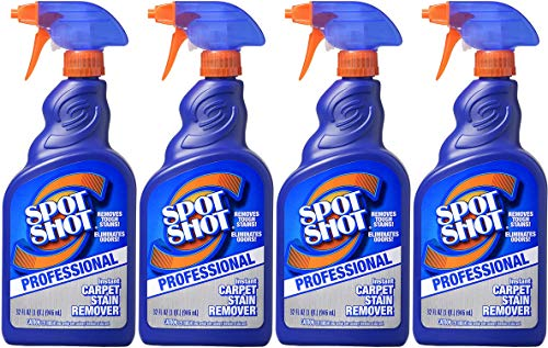 Spot Shot Professional Instant Carpet Stain Remover with Trigger Spray, 32 OZ - 4 Pack
