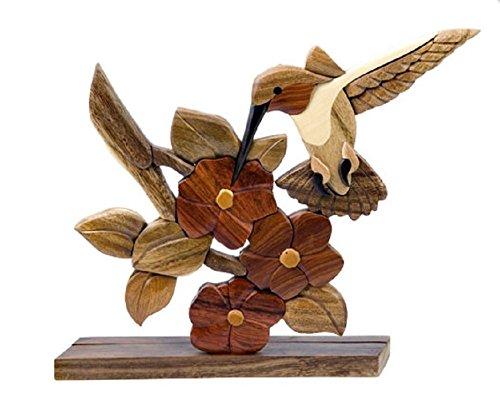 上品な Hummingbird Bird Hummingbird Flower Intarsia木製テーブルトップホームインテリア置物Lodge B0755W2X8D Bird B0755W2X8D, ブランド古着販売ピックアップ:ce7e522a --- arcego.dominiotemporario.com