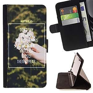 King Case - FOR HTC Desire 820 - don't try so hard - Prima caja de la PU billetera de cuero con ranuras para tarjetas, efectivo Compartimiento desmontable y correa para la mu?eca