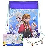 Disney Frozen Jewelry Set, Sticker Earrings, Charm Bracelet, PLUS Frozen Sling Bag
