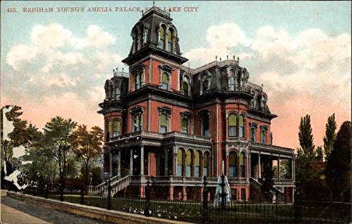 Brigham Young's Amelia Palace Salt Lake City, Utah Original Vintage Postcard