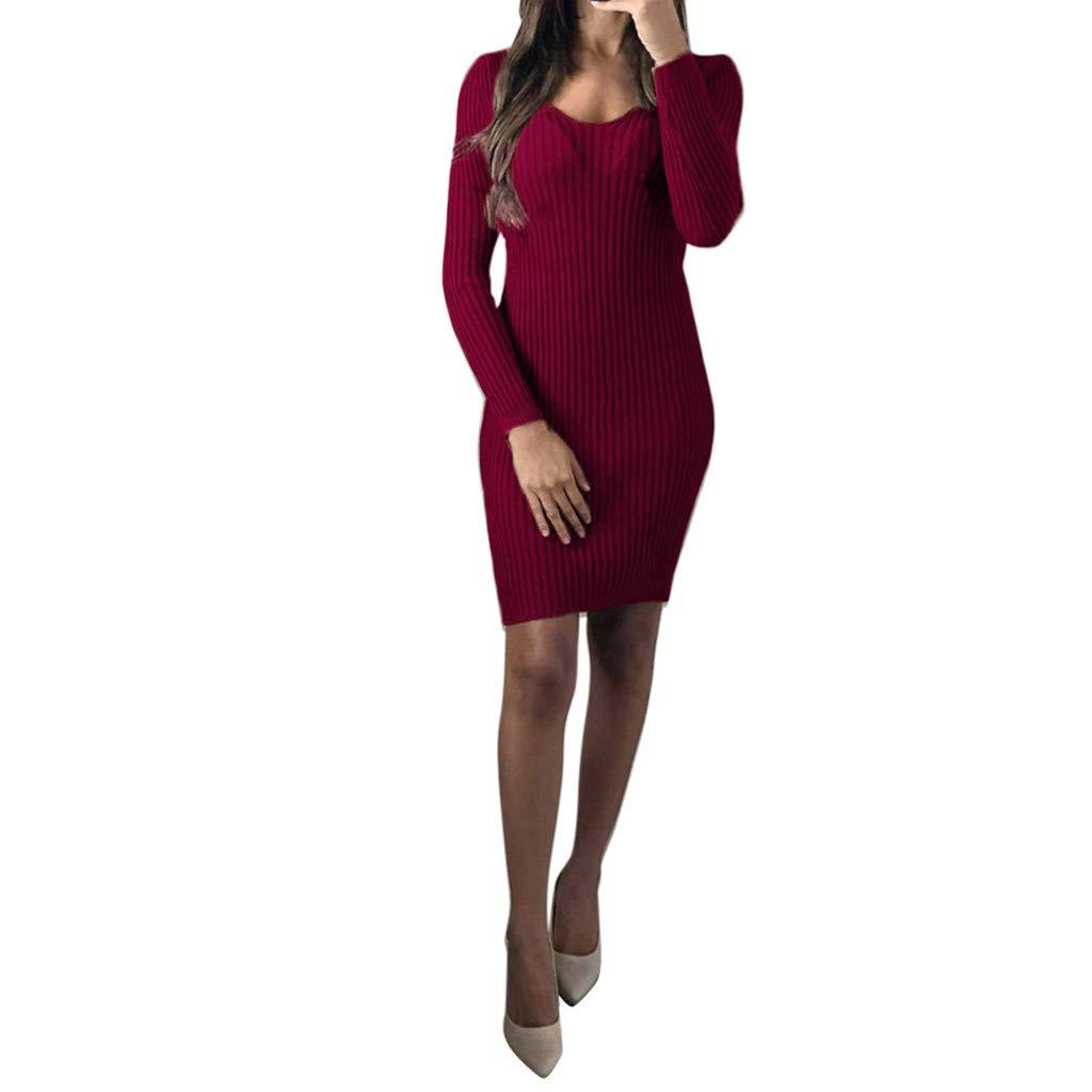 Keliay Bargain Women Autumn Casual Long Sleeve Dress Loose Party