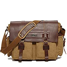 MeCool Men's Canvas Cross body Travel for Bike Every Day Weekend Messenger Shoulder Military School Bag by MeCool