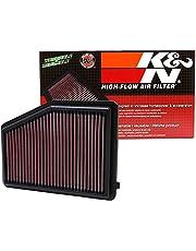 فلتر هواء لمحرك K&N : أداء عالي، ممتاز، قابل للغسل، فلتر استبدال: 2012-2018 Honda/Acura L4 1.8/2.0 L (ivic, ILX)، 33-2468