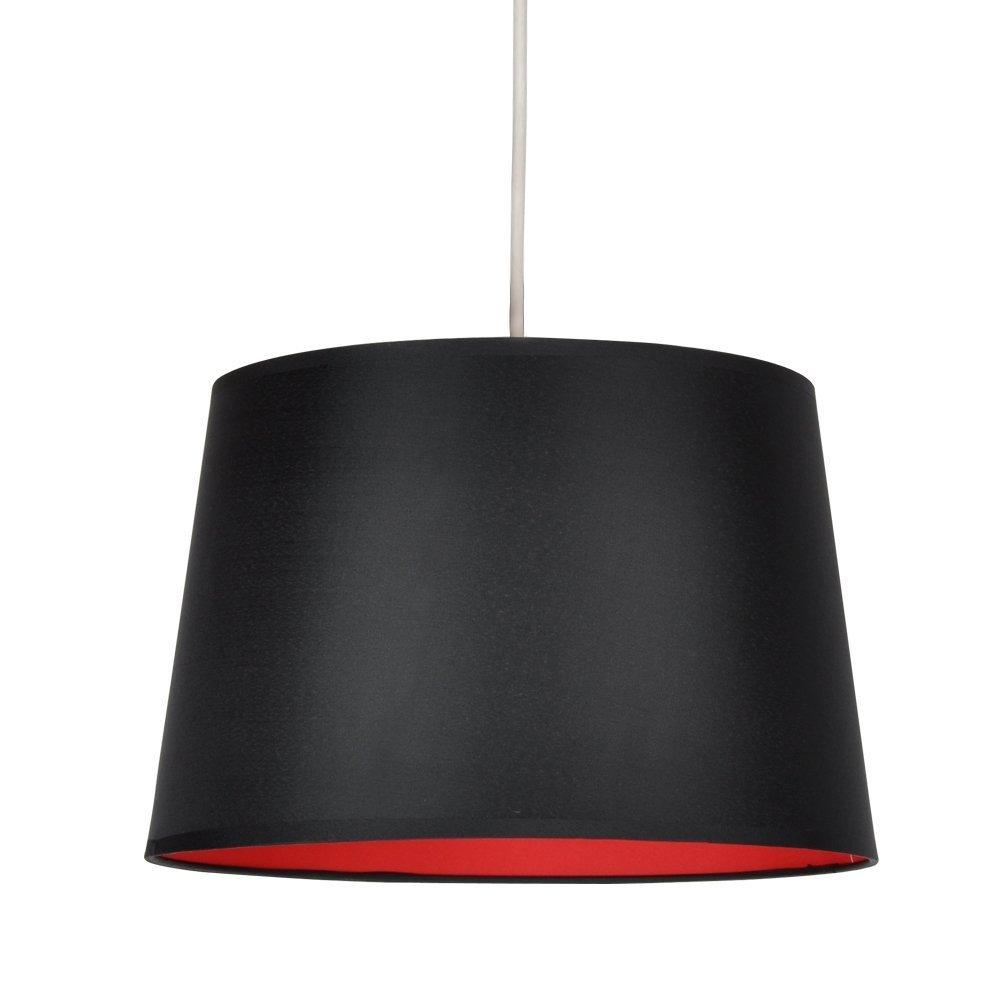 MiniSun - Modern Black & Metallic Silver Tapered Ceiling Pendant Light Shade