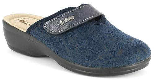 INBLU Pantofole Ciabatte Invernali da Donna Art. BJ-92 Velcro Blu (36) e9a6d5083fc