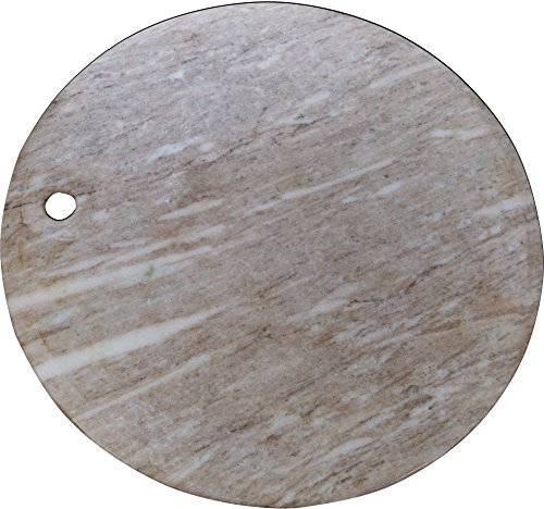 Home Essentials Brown Round Marble Kitchen Home Chopping Cutting Pastry, Meats, Fruits Cheese Board 20 inch Diameter - by Beyond