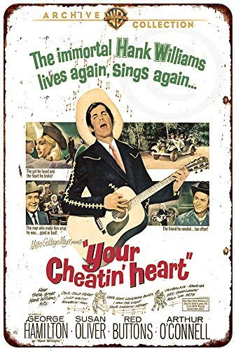 1964 Hank Williams Your Cheatin' Heart Reproduction Metal Tin Signs for Home Decor Wall Post Housewarming Gift 8 x 12
