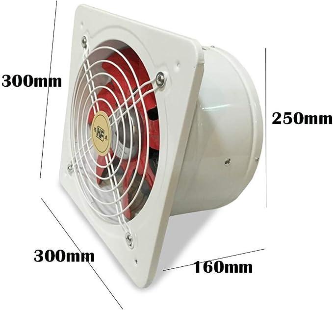 Rendimiento del Ventilador extractores de Metal de Escape con el Obturador Interno eléctrica y Cocina Motor de cojinete de Bolas silenciosa, White: Amazon.es: Hogar