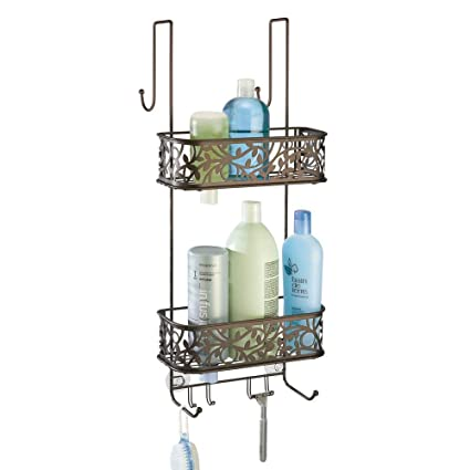 mDesign Estanteria para ducha - para colgar en la puerta - Estanteria de  baño colgante en 5af494b42010
