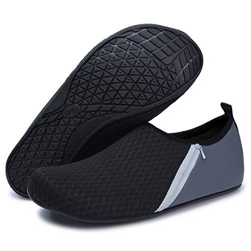 Grey Spiaggia A Acqua Calze Ginnastica Nudi Da Pocket Yoga Secco Uomo Surf Piscina Nuotare Scarpe Piedi Per Joinfree Donna Bagno 6z1wUq