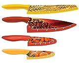 kai blade guard - Kai USA Pure Komachi High-Carbon Stainless Steel HD Kitchen Knife Set with Sheaths, 4 Piece