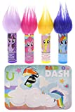 TownleyGirl My Little Pony Super Sparkly Lip Balm Set for Girls, with 4 Fruity Flavors and Decorative Case