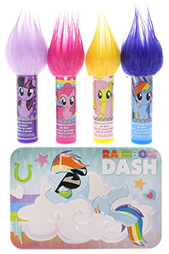 TownleyGirl My Little Pony Super Sparkly Lip Balm Set for Gi