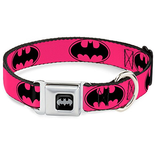 Buckle-Down DC-WBM087-S BMA Batman Black/Silver Dog Collar, Small/9-15