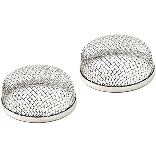JIAYI RV Exhaust Cover,Flying Insect Screen,RV Furnace Vent Cover,Protects RV Furnaces from Insects and Prevents RV Vent Damage,2.8 Stainless Steel Mesh Screens - Installation Tool Included-(2 Pack)