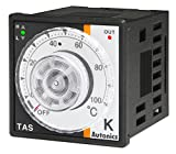 Autonics TAS-B4RJ2F Temp Control, 1/16 DIN, Analog, PID Control, Relay Output, J Thermocouple, 32 to 392 F, 100-240 VAC