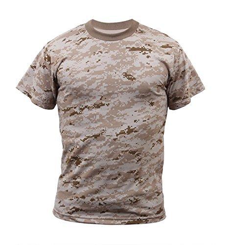 Rothco T-Shirt, Desert Digital Camo, 3X