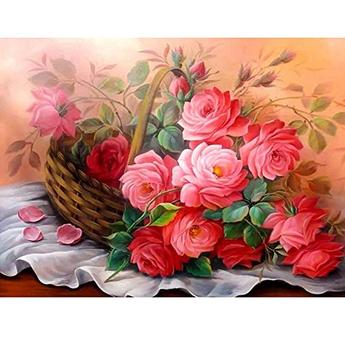 BeautyShe DIY 5D Diamond Painting by Number Kit for Adult, Full Drill Diamond Embroidery Dotz Kit Home Wall Decor